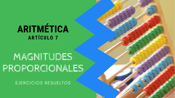 Aritmetica - Magnitudes proporcionales
