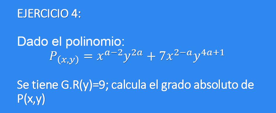 Ejercicio 4 - Polinomios