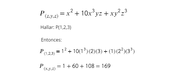 ejemplo - valor numero de un polinomio
