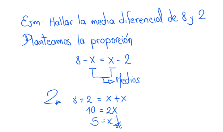 ejemplo de como hallar la media diferencial