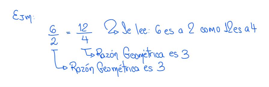 ejemplo de proporción geométrica