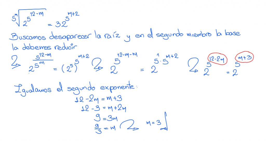 Ecuaciones exponenciales ejercicios resueltos 5.2