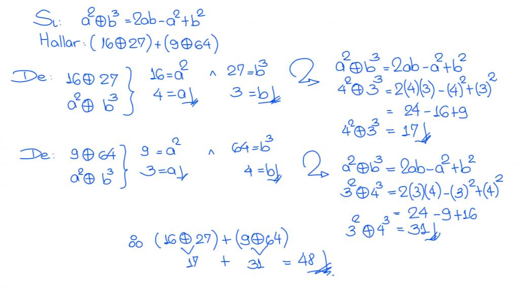 Solución 3 operadores matemáticos nivel secundaria