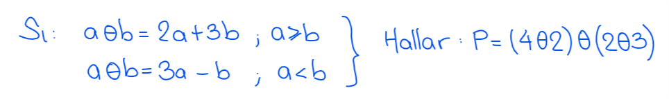 ejercicio 4 operadores matemáticos nivel secundaria