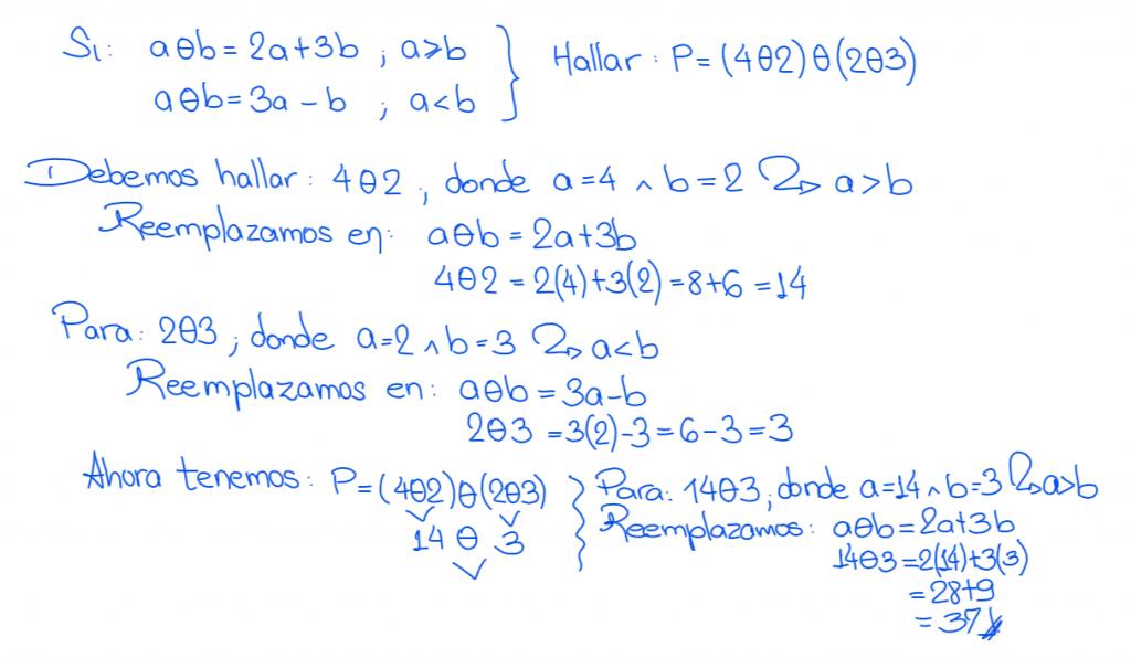 operadores matemáticos nivel secundaria solución 4