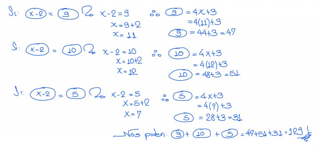 solución 5 nivel secundaria operadores matemáticos