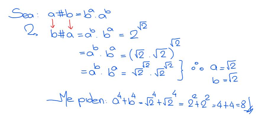 solución 8 operadores matemáticos nivel secundaria