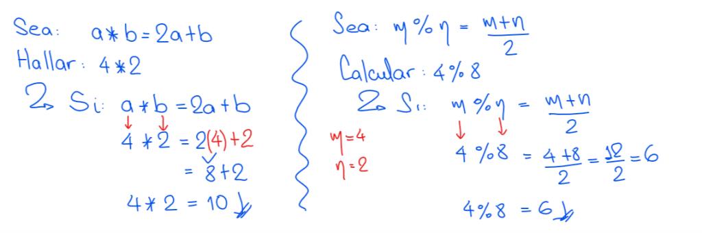 ejemplos operadores matemáticos