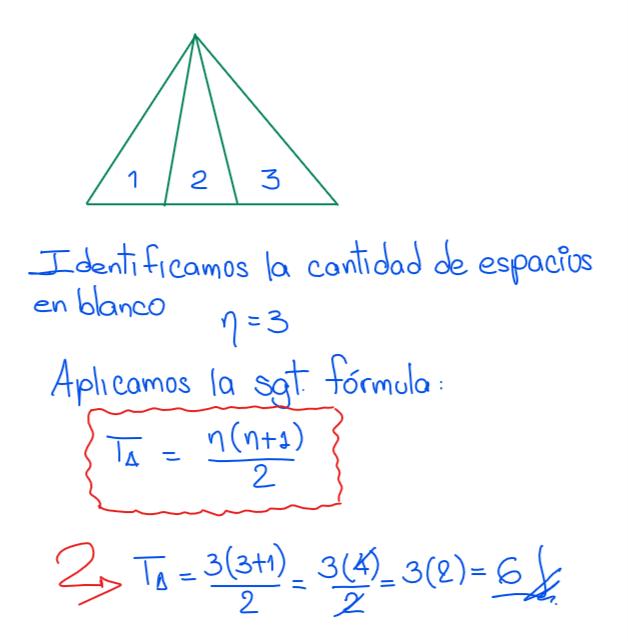 solución conteo de triángulos fórmula