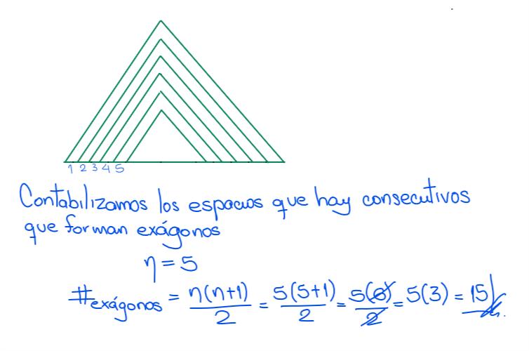 solución - cuantos hexágonos hay en la siguiente figuras