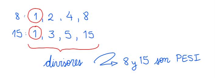 ejemplo de números primos entre si