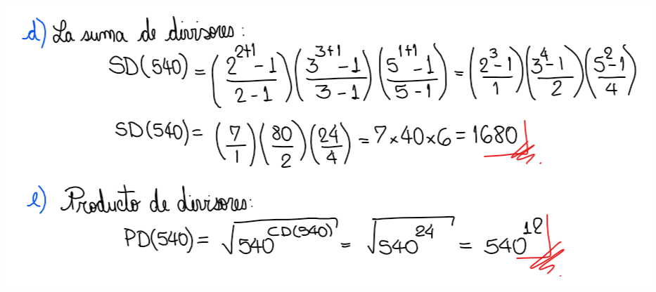 ejercicio suma de divisores. Números primos