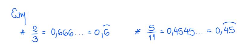 número decimal periódico puro