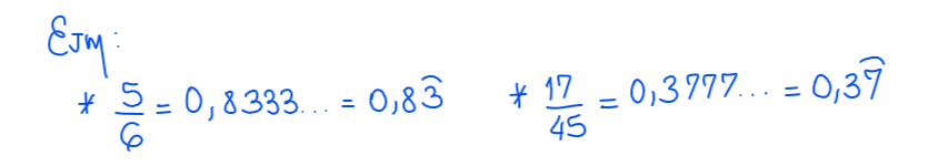 numero decimal inexacto periódico mixto