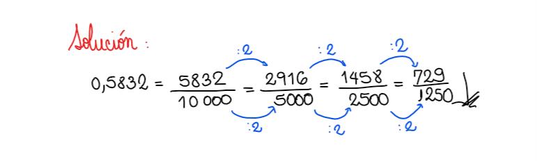 solución ejercicio 2 fracción generatriz