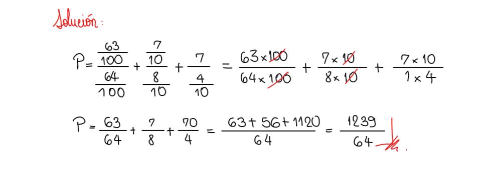 solución ejercicio 4 fracción generatriz