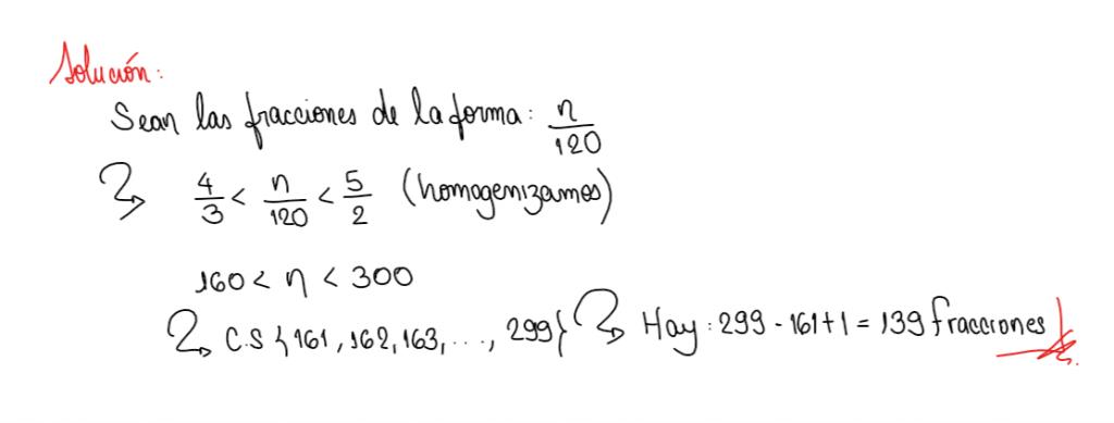 solución ejercicio 6 comparación de fracciones