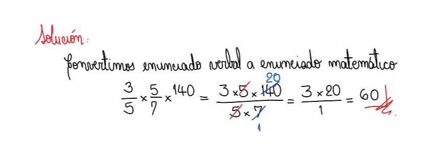 solución 7 convertir enunciado verbal a enunciado matemático