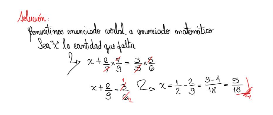 solución 8 planteo de ecuaciones, multiplicación, resta de fracciones