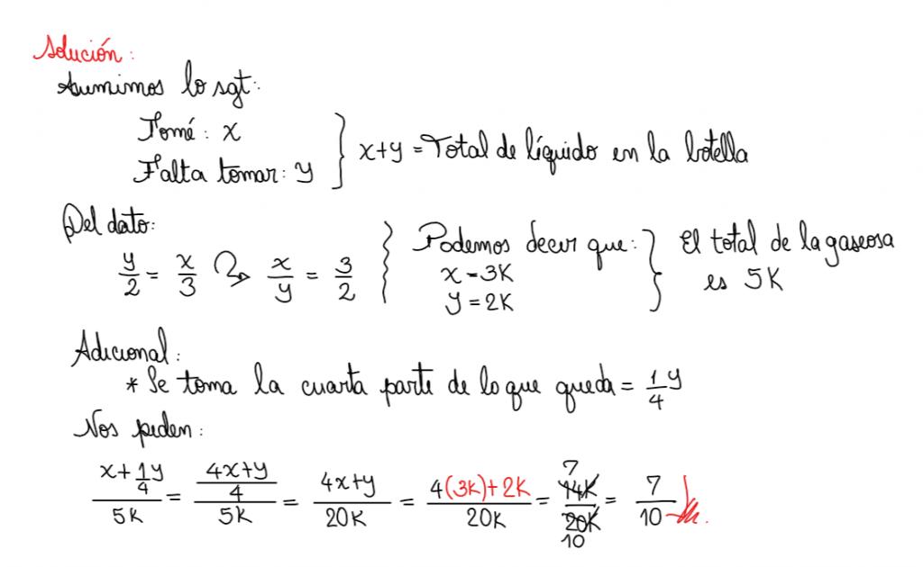 ejercicios sobre fracciones con enunciado