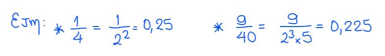 número decimal exacto