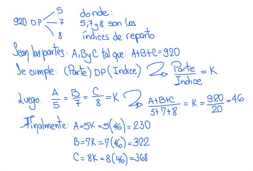 reparto proporcional simple directo