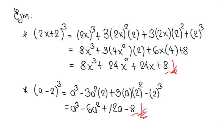 Productos notables ejemplos de binomio al cubo