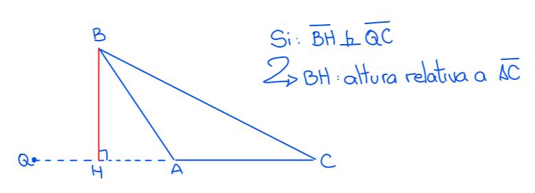 BH altura relativa al lado AC