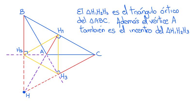 ortocentro en un triángulo obtusángulo