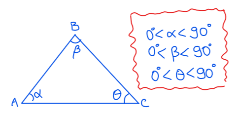 triángulo acutángulo