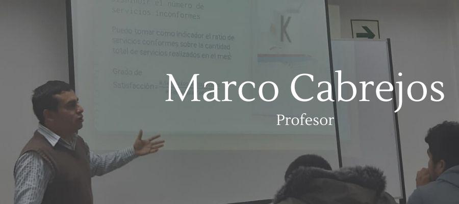 Marco Cabrejos profesor