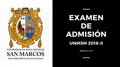 Portada Examen de admision UNMSM 2018-II areas ABD
