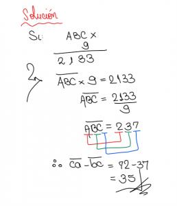 ejercicio sobre criptoaritmetica con multiplicación