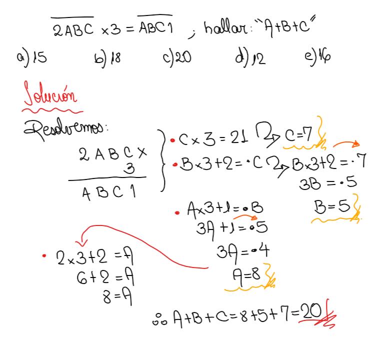 criptoaritmetica ejercicio multiplicación