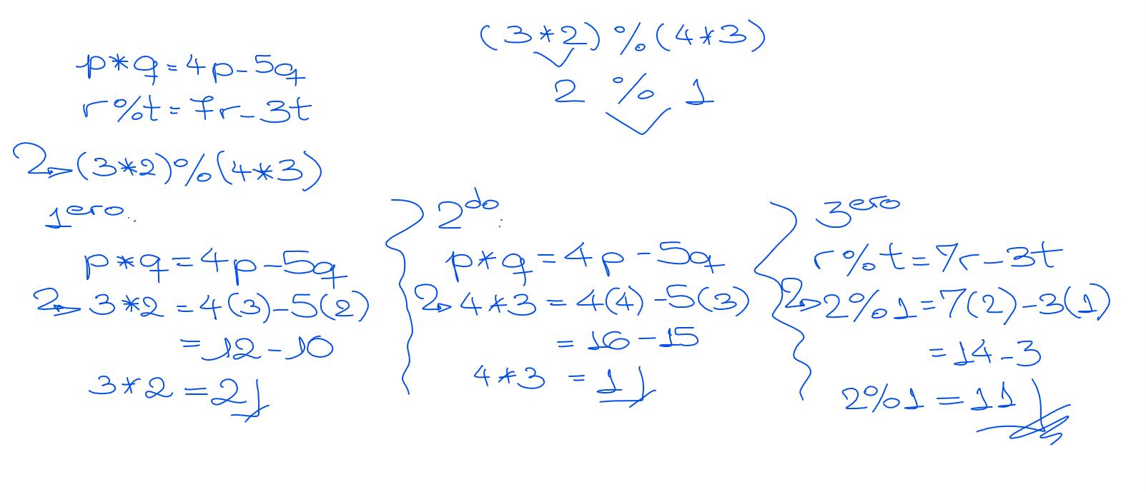 ejercicio resuelto operadores matemáticos