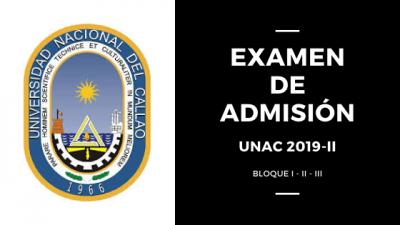 Imagen de portada Examen de admision UNAC 2019 2