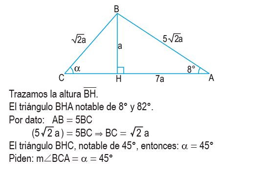 triángulos rectángulos notables imagen 58