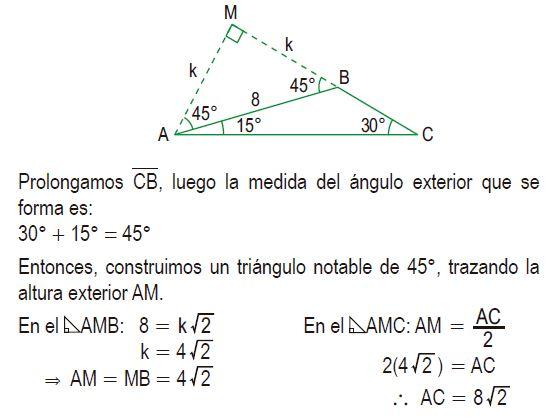 triángulos rectángulos notables imagen 73