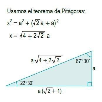 triángulos rectángulos notables imagen 8
