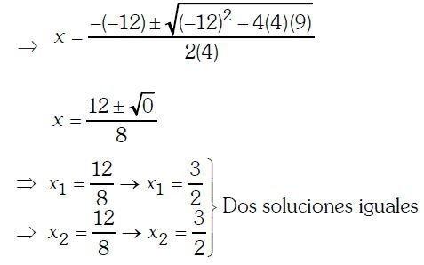 Ecuaciones de segundo grado ejercicios Imagen 9