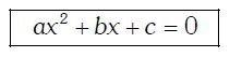 Ecuación de segundo grado forma general